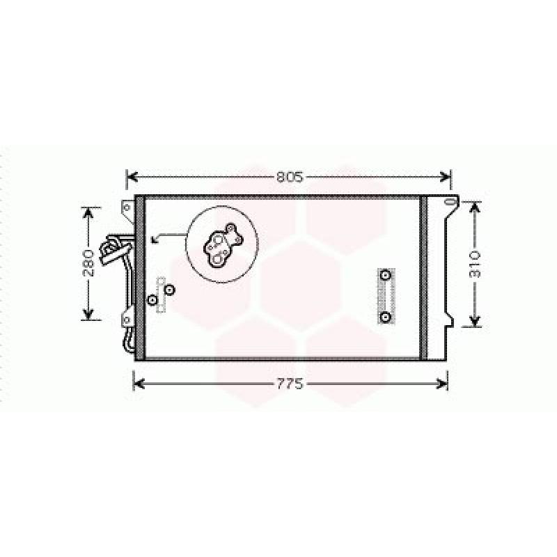 Condenseur / Radiateur de Clim Volkswagen Touareg