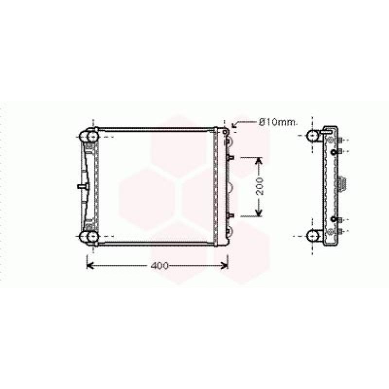 Radiateur Moteur Porsche Boxster ( 2.5 / Droit )