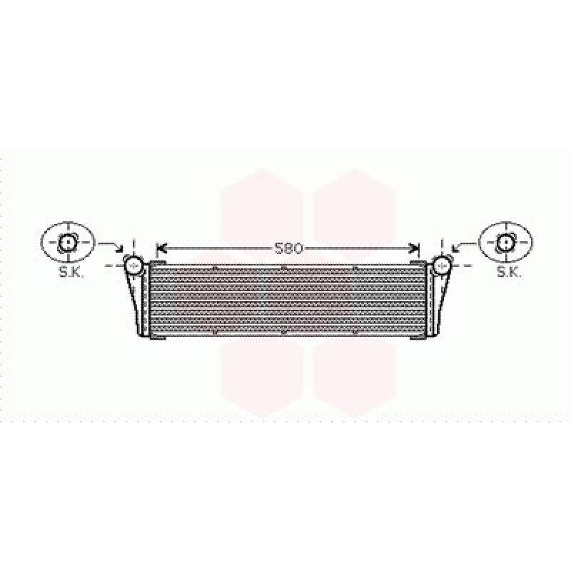 Radiateur Moteur Central Porsche Cayman ( 2.7 / 3.4 )