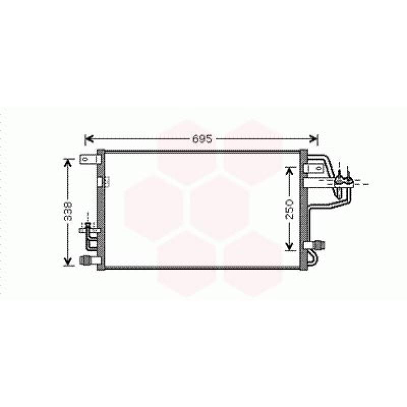 Condenseur / Radiateur de Clim Kia Sportage