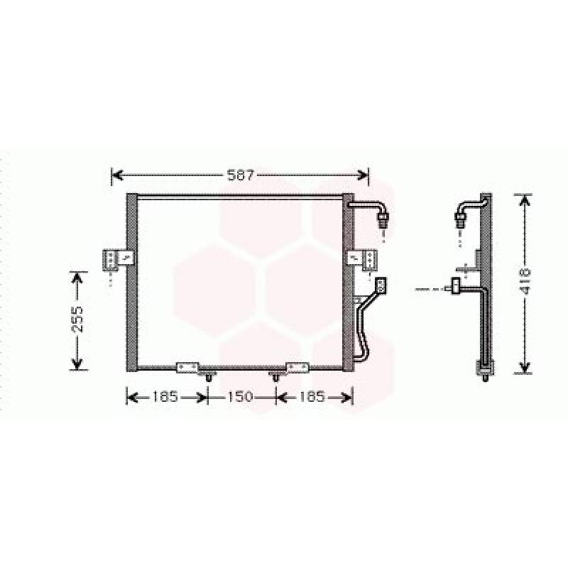 Condenseur / Radiateur de Clim Kia Sportage ( 2.0 )