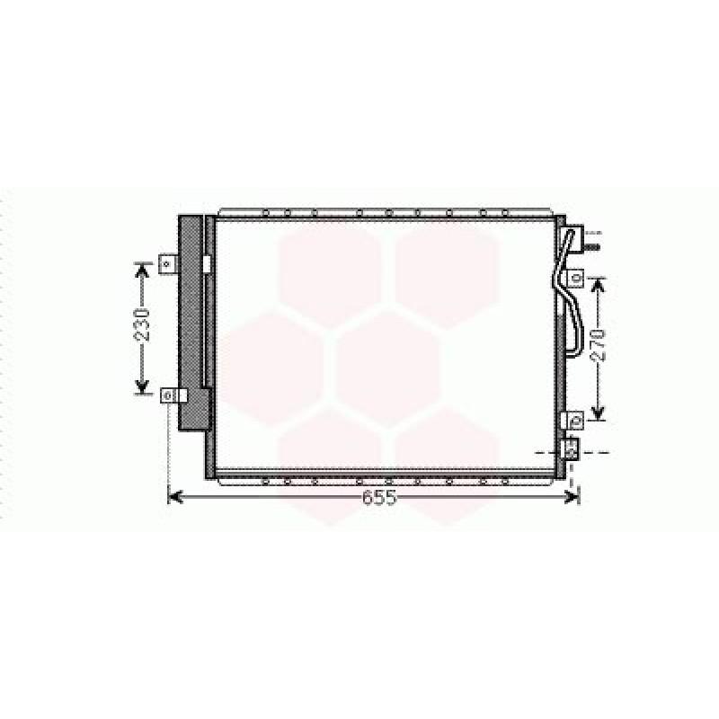 Condenseur / Radiateur de Clim Kia Sorento ( 2.5 CRDi - LHD )