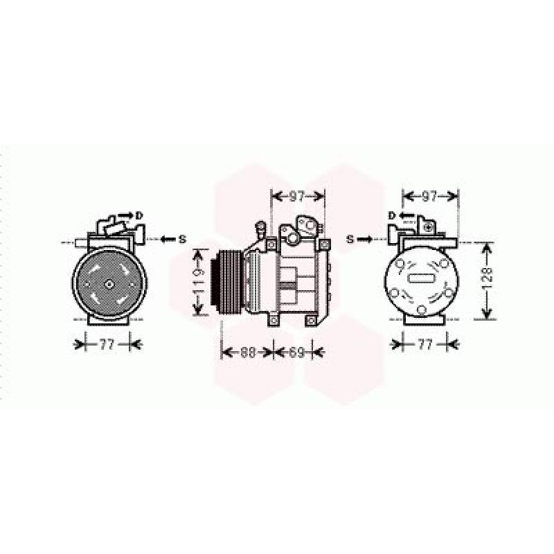 Compresseur de Climatisation Kia Sorento ( 2.5 CRDi - LHD