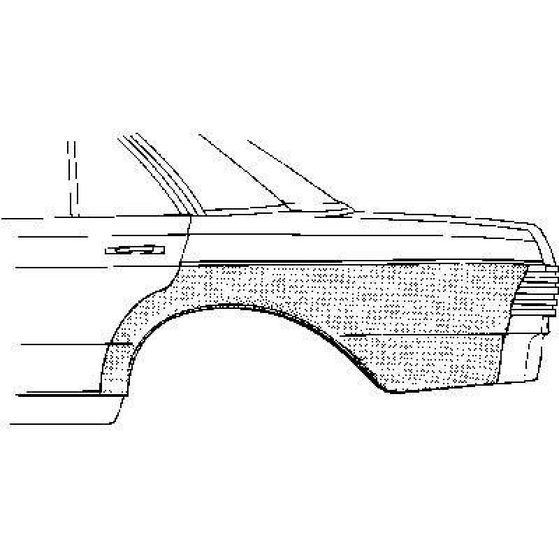 aile arri re gauche mercedes w123 berline coup 1976 1985. Black Bedroom Furniture Sets. Home Design Ideas