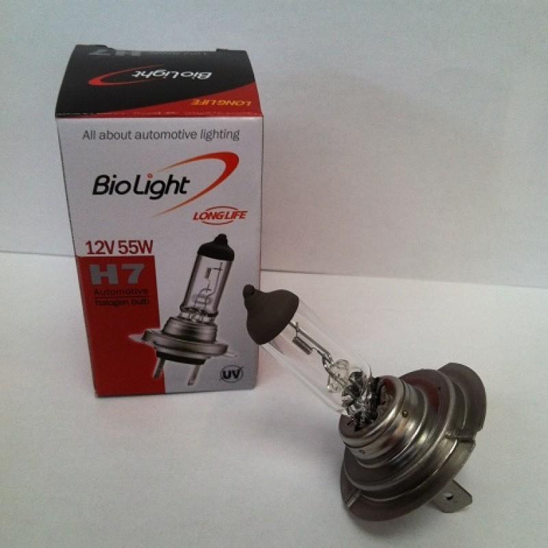 Ampoule halogène longue durée : H7 12V 55W (ampoule de marque Biolight)