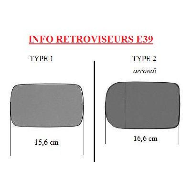 Miroir de rétroviseur gauche BMW série 3 E36 (Chauffant)