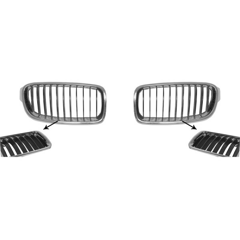 grilles calandre bmw s u00e9rie 3 f30  f31 basic 2012   noir