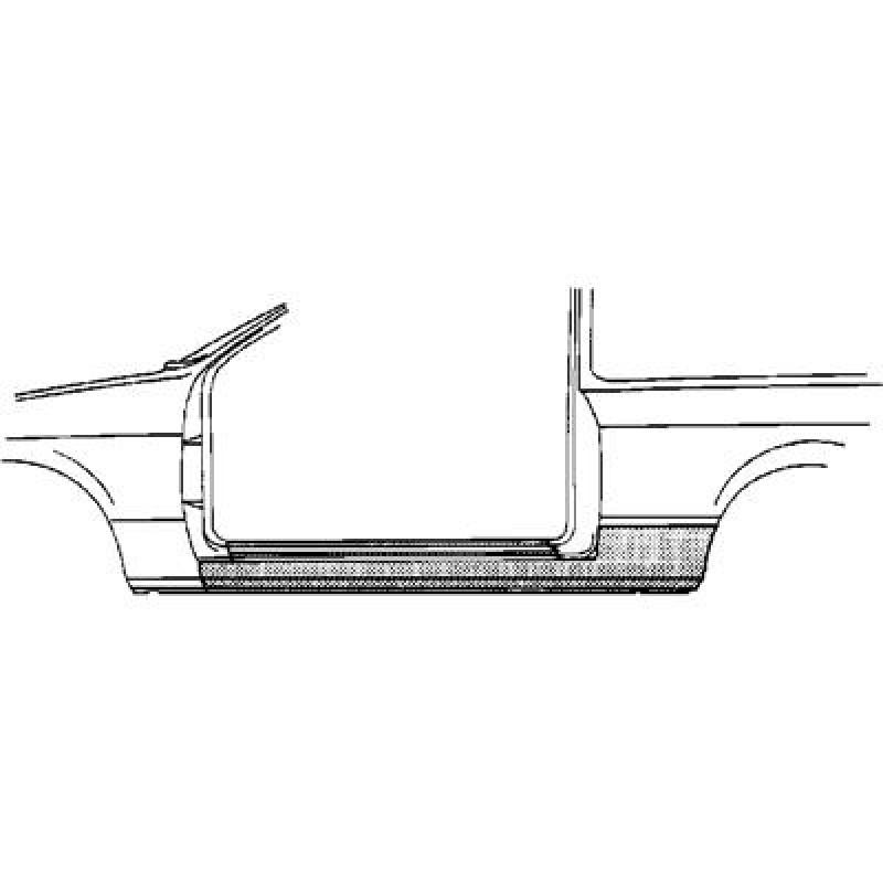 Bas de caisse Gauche Honda Civic ( 2 portes )