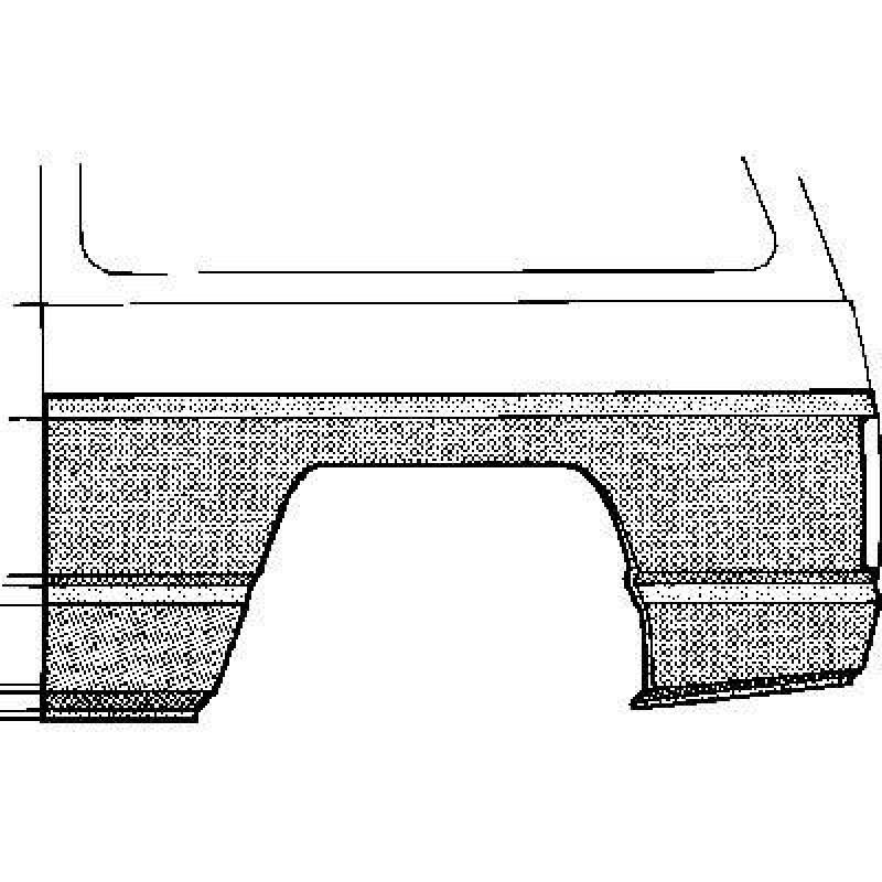 Arc d'Aile arrière gauche Suzuki SJ410