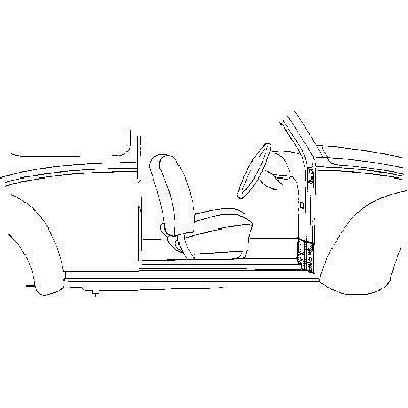 Renfort de charnière droit Volkswagen Coccinelle