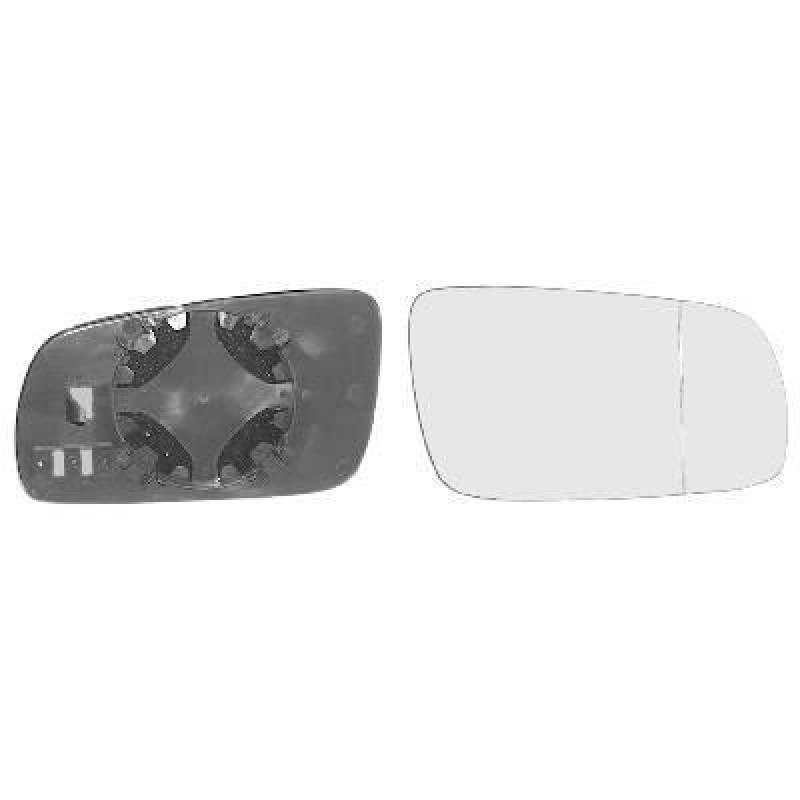 Miroir de rétroviseur droit convexe blanc Volkswagen Golf 4