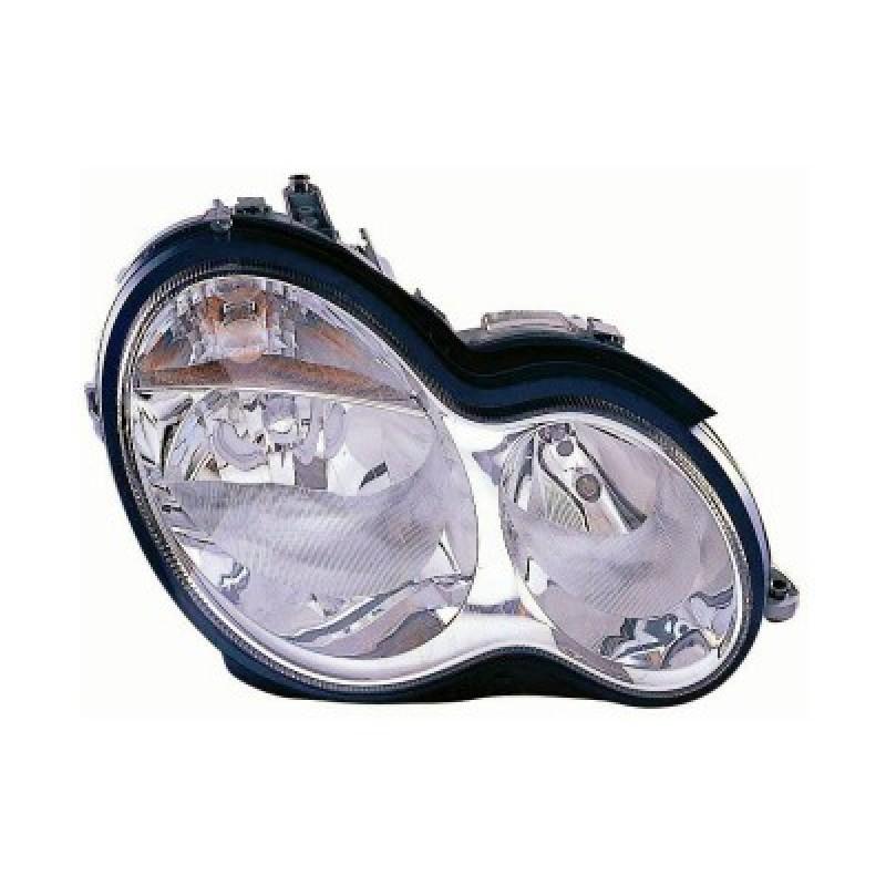 Phare droit Mercedes W203 Classe C (verre lisse / crystal) 2000 - 2007