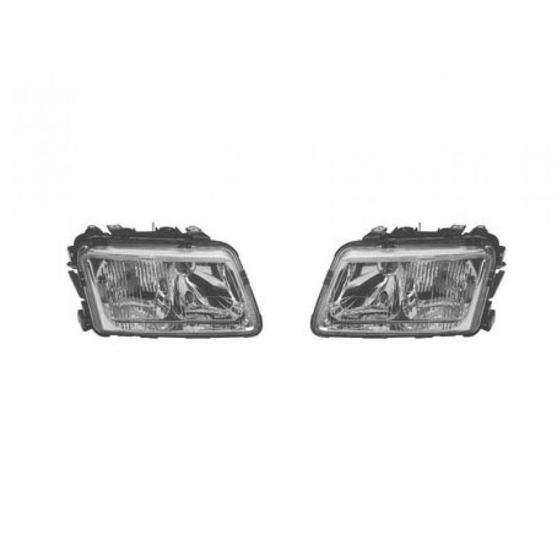 2 optiques de phares avant Audi A3 1996-2000