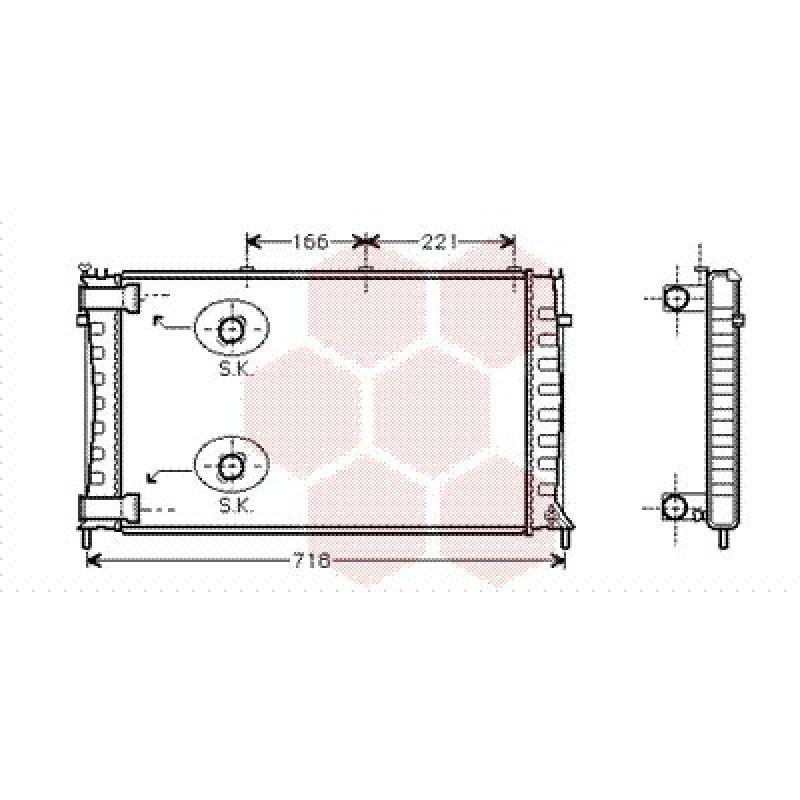 radiateur moteur citroen xm radiateur moteur citroen xm 2 1 turbo diesel de 1995 2000. Black Bedroom Furniture Sets. Home Design Ideas