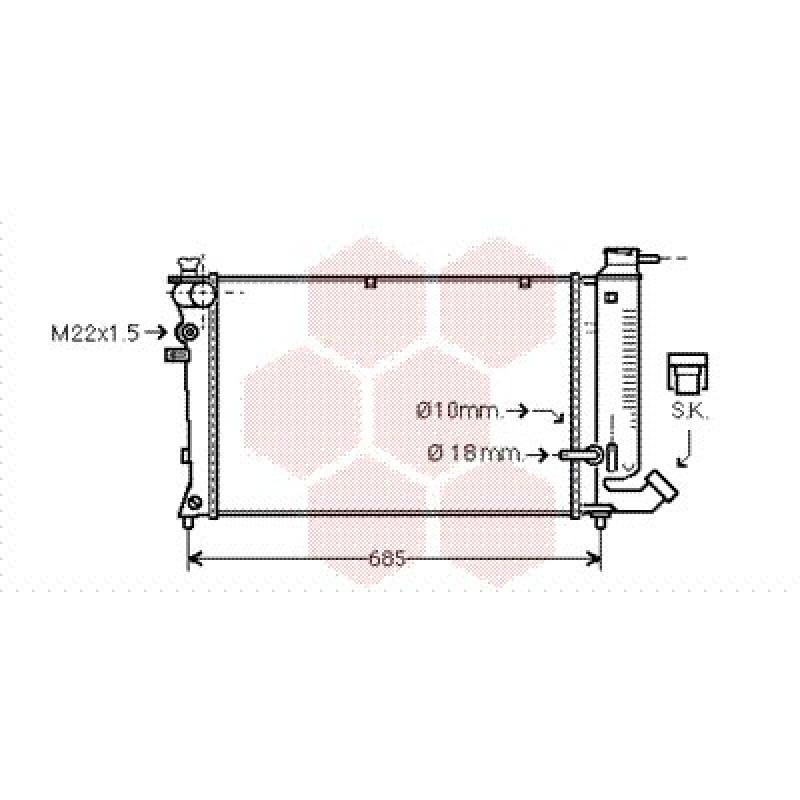 radiateur moteur peugeot 306 radiateur eau moteur peugeot 306 1 9 turbo diesel de 1993 1995. Black Bedroom Furniture Sets. Home Design Ideas