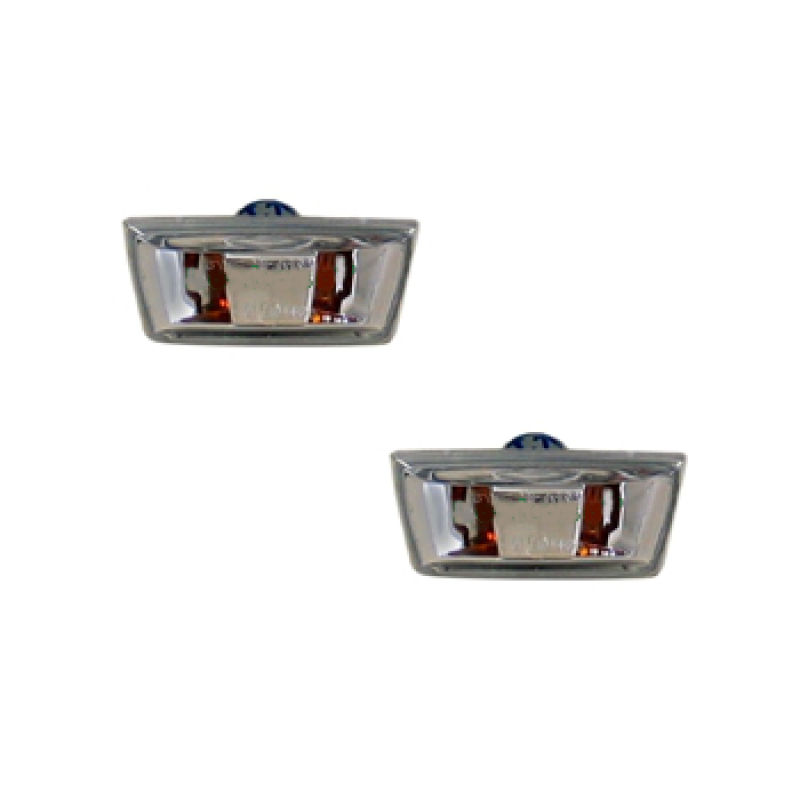 2 rappels de clignotants latéraux Opel Corsa D 2006-2015 (avec bords de couleur gris)