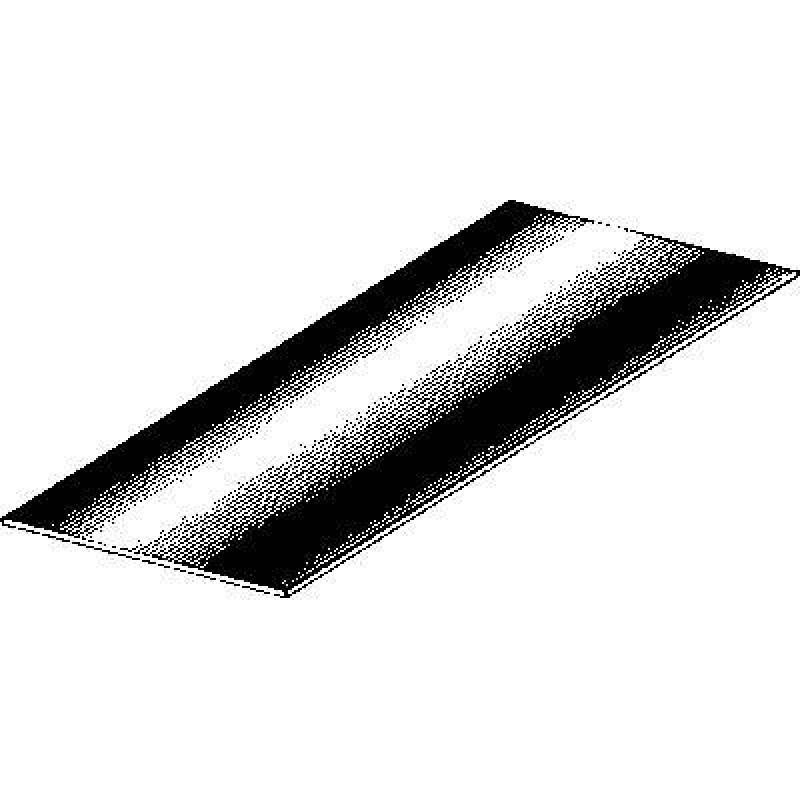 panneau de t le acier zingu 500x330x0 7 t le universelle. Black Bedroom Furniture Sets. Home Design Ideas