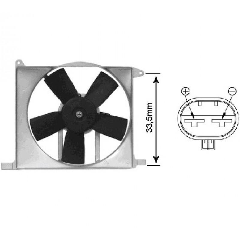 Ventilateur électrique complet de radiateur Opel Astra F 1991-1998