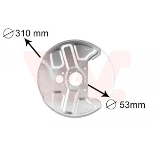 Protection disque de freins avant Volvo 940 1990-1997 (avec ABS)