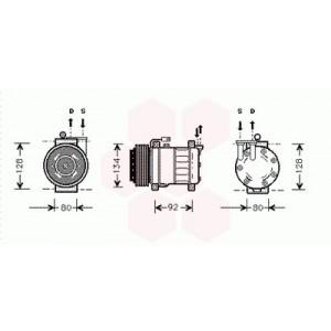 Compresseur de Climatisation Alfa Romeo 156 ( 1.6i, 1.8i, 2.0i, essence ) 1997 - 2005