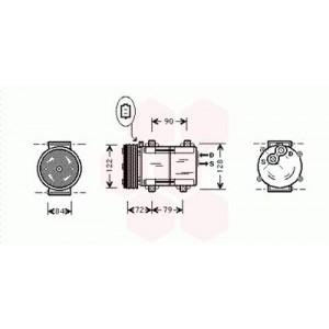 Compresseur de Climatisation Mazda Tribute ( 2.0i 16V )