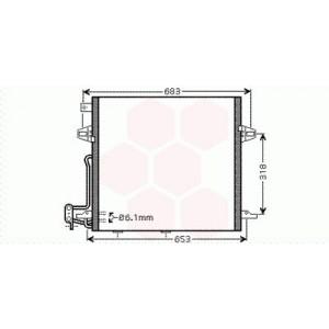 Condenseur / Radiateur de Clim Mercedes M / ML W164 ( ML 500 )