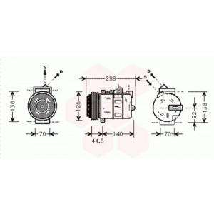 Compresseur de Climatisation Mercedes Classe E W210