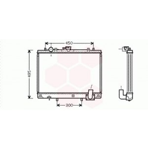 Radiateur Moteur Mitsubishi L200 (Manuel / 2.5 TD ) 1996 à 2001