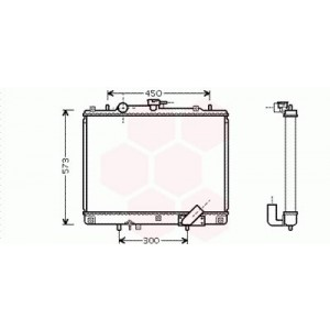 Radiateur Moteur Mitsubishi L200 ( 2.5 TD / boite Manuel ) 2001 - 2005