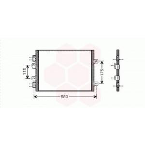 Condenseur / Radiateur de Clim Renault Kangoo