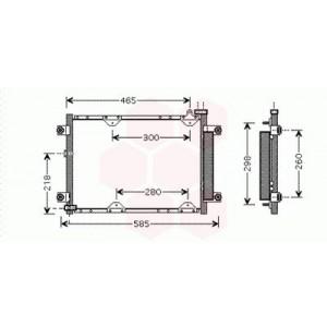 Condenseur / Radiateur de Clim Suzuki Grand Vitara