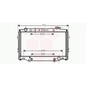 Radiateur Moteur Toyota Land Cruiser J9 / J10 ( 4.5i )