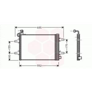 Condenseur / Radiateur de Clim Volkswagen Polo