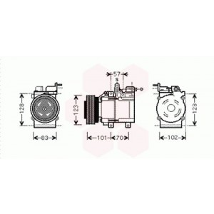 Compresseur de Climatisation Hyundai Tucson 2.0 CRDi - HD - (Type HCC)  2004+