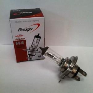 Ampoule halogène longue durée : H4 12V 60/55W (ampoule de marque Biolight)