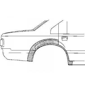 Arc aile arrière droit Ford Scorpio (1985 à 1994)