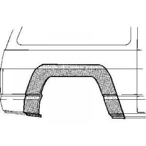 Arc aile arrière droit Nissan Patrol baroud 160/260 jusque 1994