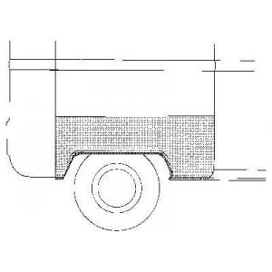 Arc d'aile arrière droite Volkswagen Transporter T2 1968 - 1979