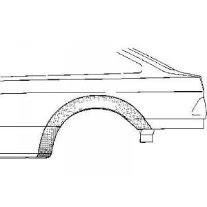 Arc aile arrière gauche Ford Sierra (1982 à 1993)