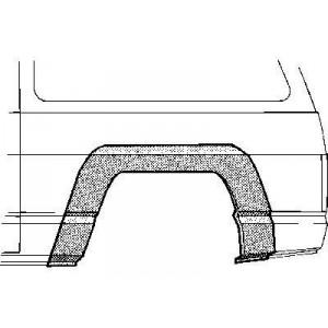 Arc aile arrière gauche Nissan Patrol baroud 160/260 jusque 1994