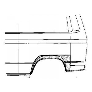 Arc d'aile arrière Gauche Volkswagen Transporter T3 1980 - 1992