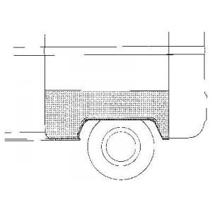 Arc d'aile arrière gauche Volkswagen Transporter T2 1968 - 1979