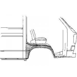Arc d'aile avant droit Volkswagen Transporter T3 1980 - 1992
