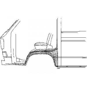 Arc d'aile avant Gauche Volkswagen Transporter T3 1980 - 1992