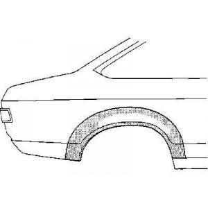 Arc aile arrière droit Ford Capri (2 portes)