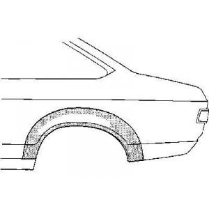 Arc aile arrière gauche Ford Capri (2 portes)