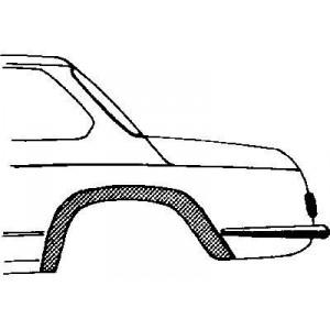 Arc d'aile arriere gauche BMW 02 de 1966 à 1977