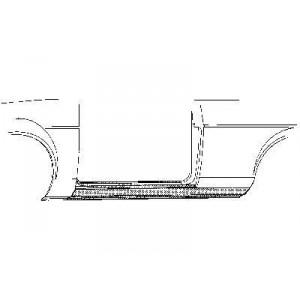 Bas de caisse gauche Ford Capri (1969 à 1985)