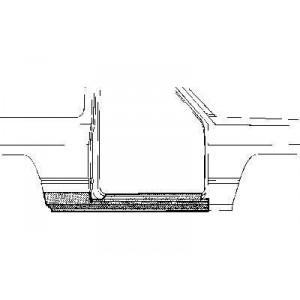 Bas de caisse droit Nissan Patrol baroud 160/260 jusque 1994