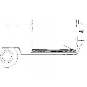 Bas de caisse droit Volkswagen Transporter T2 1968 - 1979